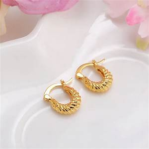2pairsBaby Girls Small Round Circles Huggies Hoop Earrings ...