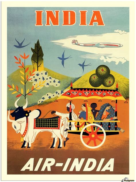 air india poster  india vintage poster canvas