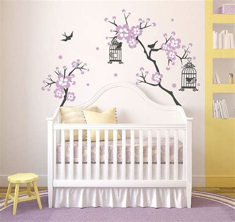 stickers arbre chambre fille baby room decor cherry blossom tree wal decal wall