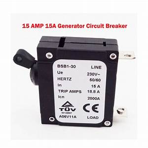 230v 15a In Circuit Breaker 18 8a Trip Amps Bsb1