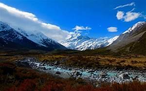 Mt, Cook, New, Zealand, Landscape, Hd, Wallpaper, Wallpapers13, Com