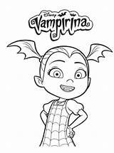 Vampirina Coloring Disney Artykuł sketch template