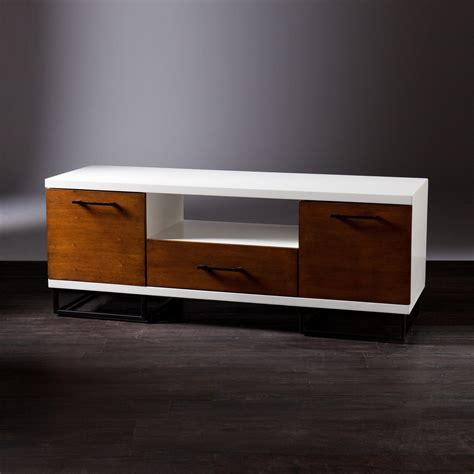 Two Tone Media Console Unique Modern Furniture Dot