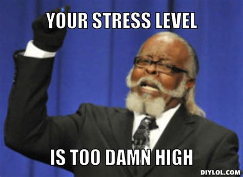 Too Damn High Meme - quit stressing it s making you fat the body consultants