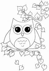 Owl Coloring Cartoon Animals Bird Nocturnal Owls Printable Colouring Sheets Animal Colour Printables Owlcoloring Sheet Birds Adult Ausmalbilder Stencil Boys sketch template