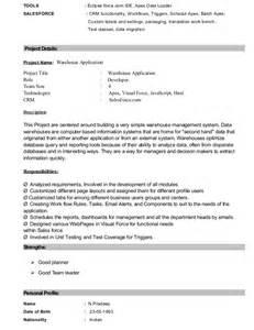 Sales Resume Template Pradeep Resume Salesforce Certified
