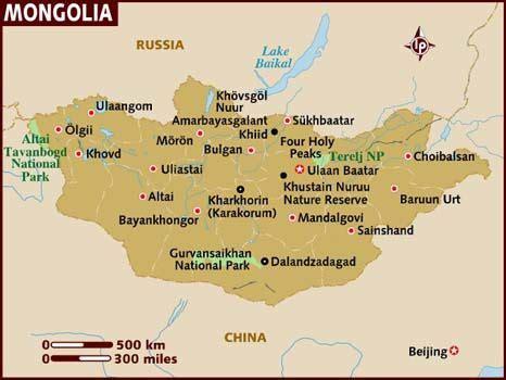 mongolia capital map