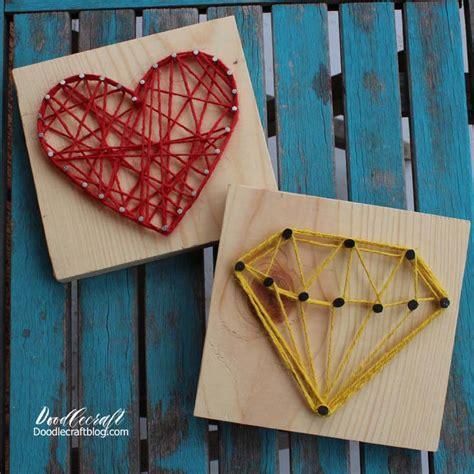 easy string art tutorial heart diamond templates