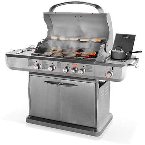 stainless steel gas grills uniflame 48 000 btu 4 burner lp gas grill stainless steel grills outdoor cooking walmart com