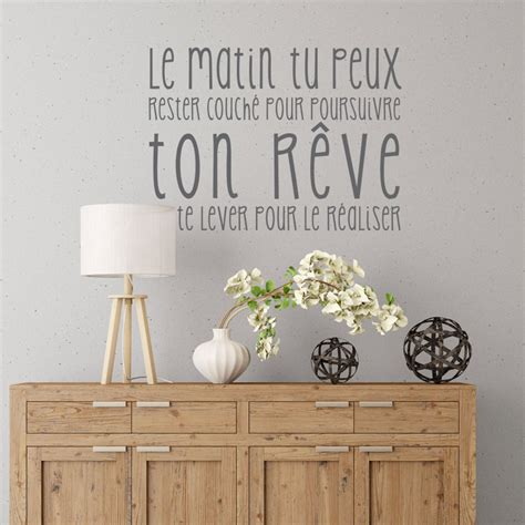 stickers citations chambre sticker citation réalise ton rêve plus d 39 idées citations