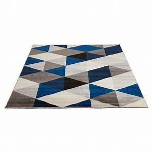 tapis design style scandinave rectangulaire geo 230cm x With tapis gris design