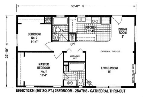 Manufactured Homes Plans (20 Photos)