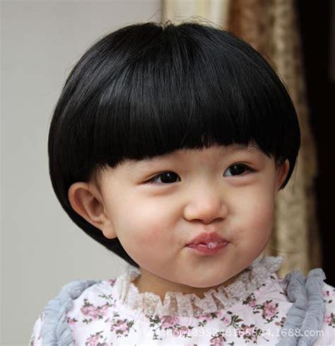 childrens wig straight short hair baby fashion aged