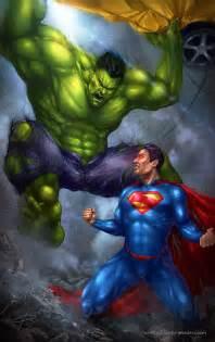 Hulk vs Superman Art