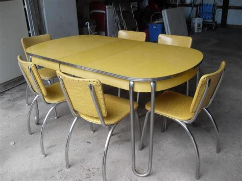 yellow kitchen table and yellow retro kitchen table chairs home decor interior