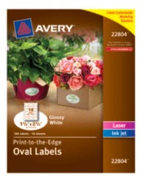 avery template 22804 labels avery 174 easy peel 174 print to the edge white oval labels 22804 glossy 1 1 2 quot x 2 1 2