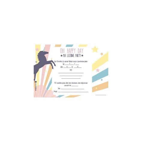 theme chambre garcon 8 cartons d 39 invitation anniversaire licorne family