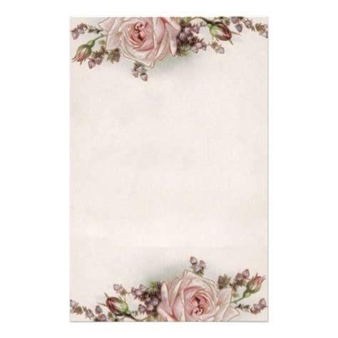 stationery printable elegant vintage roses vintage