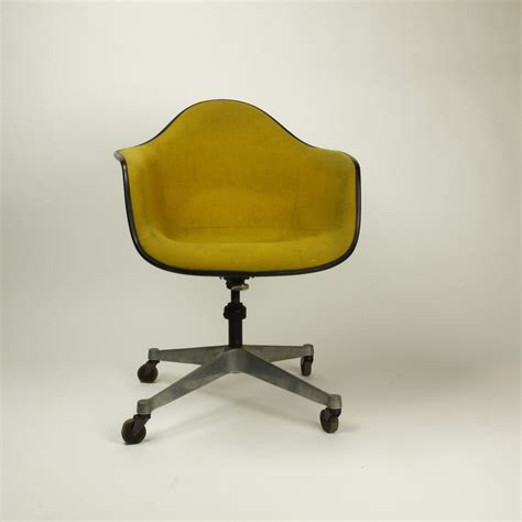 vintage mid century herman miller upholstered shell chair