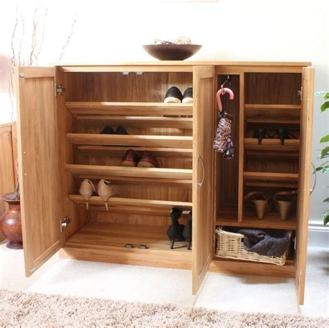 Shoes Cupboard by Mobel Solid Oak Furniture Shoe Cupboard Cabinet Large