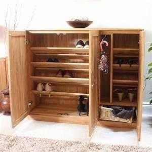 Mobel, Shoe, Cupboard, Rack, Extra, Large, Storage, Cabinet, Solid, Oak, Hallway, Furniture