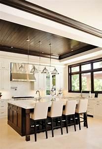 maison stylee contemporaine a l39aide de plafond moderne With faux plafond cuisine ouverte