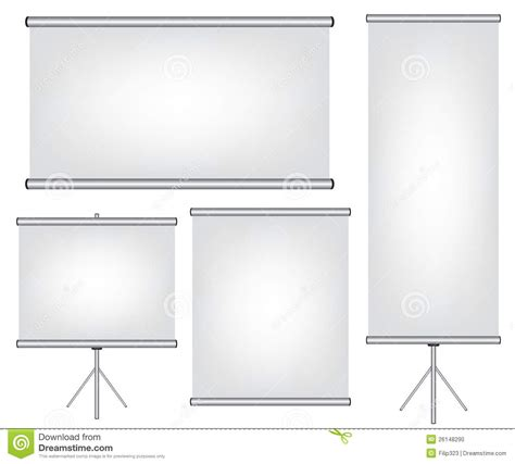 roll projector screen projector screen and roll up banner illustration stock 1891