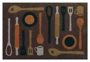 tapis de cuisine taupe lavable en machine en nylon spoon With tapis cuisine lavable