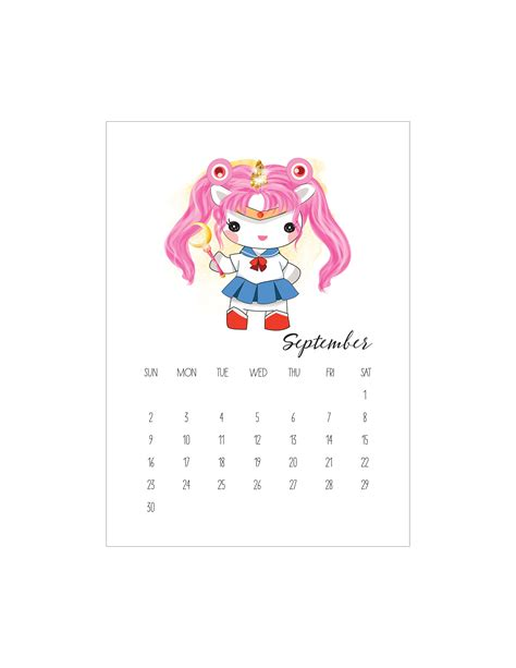 printable pop culture unicorn calendar  cottage