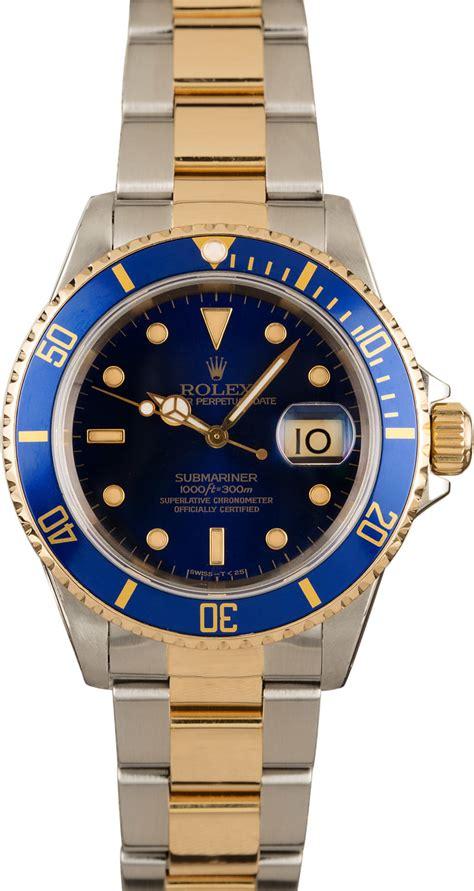 Men's Rolex Submariner 16613 Blue