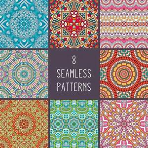 Boho style patterns collection Vector | Free Download