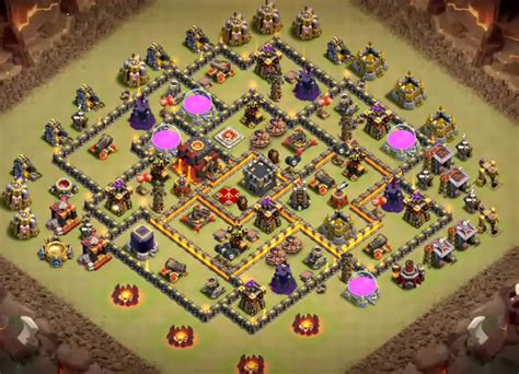 9 epic th9 war base 16 best th9 war base anti 3 2018 new bomb tower 9 ep