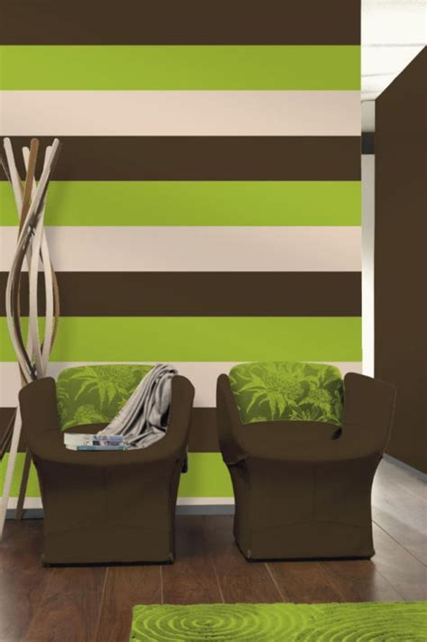 Amazon Uk Living Room Curtains by Olivia Lime Green Chocolate Brown Stripe Wallpaper E40904