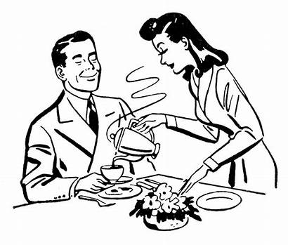 Wife Clipart Father Husband Coloring Retro Pancake