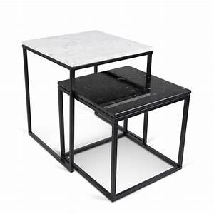 Table Gigogne Marbre : temahome table gigogne 55cm prairie marbre blanc noir ~ Teatrodelosmanantiales.com Idées de Décoration