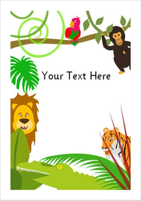 jungle notepaper eyfs ks  early years primary