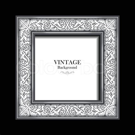 vintage white frame antique stock vector colourbox
