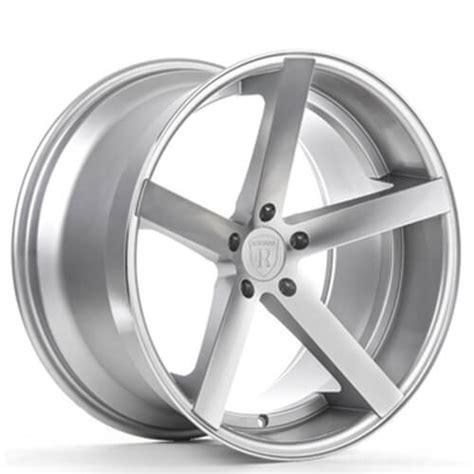 staggered rohana wheels rc machined silver rims rh