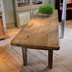 Large 18th Cent French Oak Dining Table With Great Thick