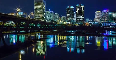 Richmond Virginia Skyline At Night