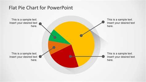 flat pie chart template  powerpoint slidemodel