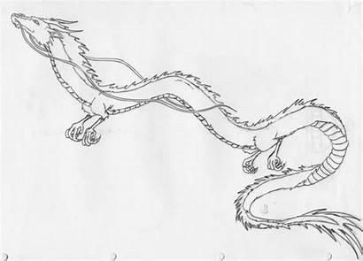 Haku Dragon Chihiro Spirited Away Flying Drawing