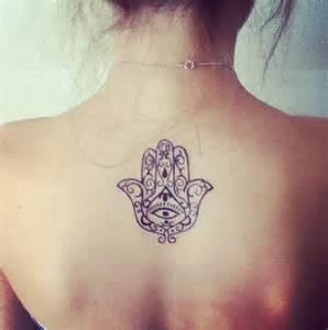 Hamsa Hand Tattoo Back