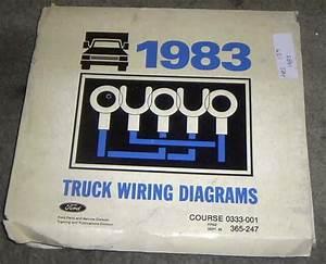 1983 Ford Truck F100 F250 F350 Trucks Factory Wiring