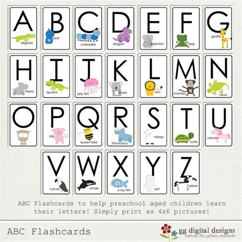 Printable Alphabet Flash Cards A2z  2018 Printable Calendars Posters Images Wallpapers Free