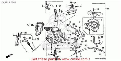 honda trxd fourtrax   england sul carburetor