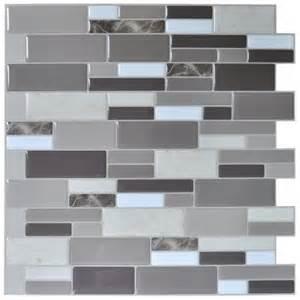 art3d peel stick brick kitchen backsplash self adhesive wall tile gray design 6 sheets