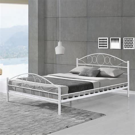 metallbett mit lattenrost metallbett bettgestell doppelbett bettrahmen mit
