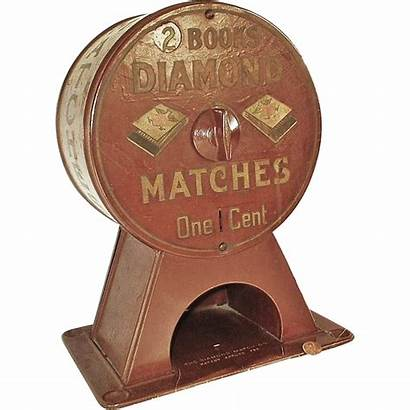 Machine 1900s Early Diamond Vending Matchbook Dispenser