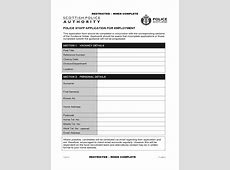 Police Recruitment Application Form 2 Free Templates in